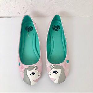 Tuk whimsical unicorn and heart ballet flats 7